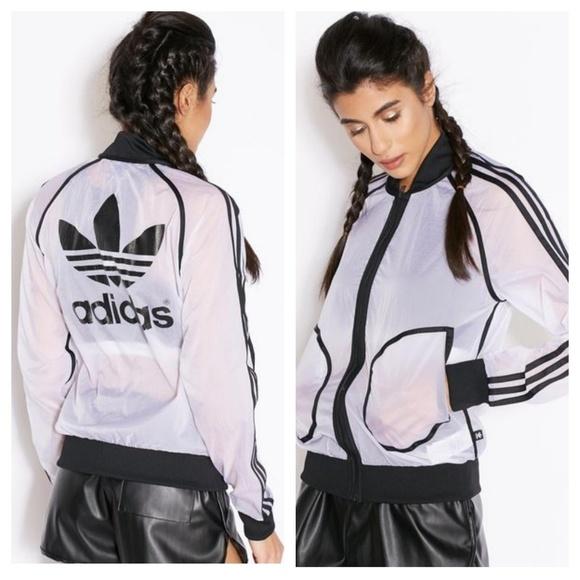 77df3ac2b5d7 adidas Jackets   Blazers - Rare🖤 Rita Ora Transparent Track Jacket